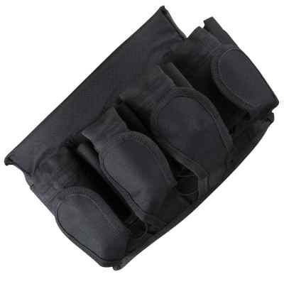 Paintball Battlepack (4 + 5) avec ceinture velcro (noir) | Paintball Sports