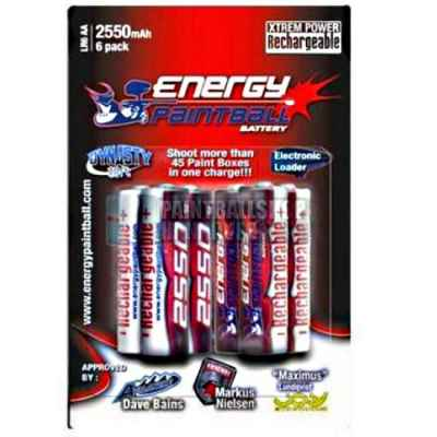Batterie Energy Paintball 1,2 Volt (pack de 6) - 2550 mAh | Paintball Sports