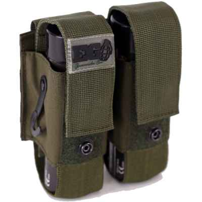 Sac Enolagaye fumée grenade molle double (olive) | Paintball Sports