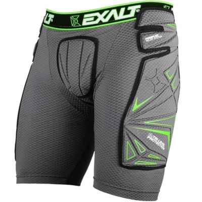 Exalt FreeFlex Paintball Slide Short (gris / vert) | Paintball Sports