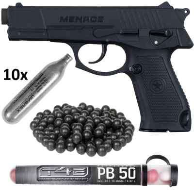 Pistolet GI Sportz Menace HOME DEFENSE kit (noir) | Paintball Sports