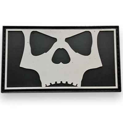 LA Infamous Icon Skull Patch Complet (Noir / Blanc) | Paintball Sports
