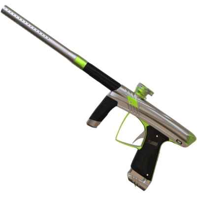 Marqueur de paintball MacDev Prime (argent / vert) | Paintball Sports