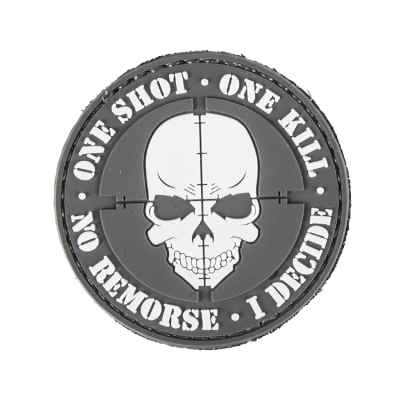 Patch Velcro en PVC Paintball / Airsoft (One Shot - One Kill) | Paintball Sports