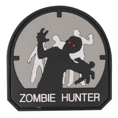 Patch Velcro en PVC Paintball / Airsoft (Zombie Hunter, gris) | Paintball Sports