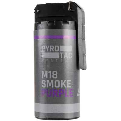 Grenade à fumée PYROTAC Paintball / Airsoft avec culbuteur (violet) | Paintball Sports