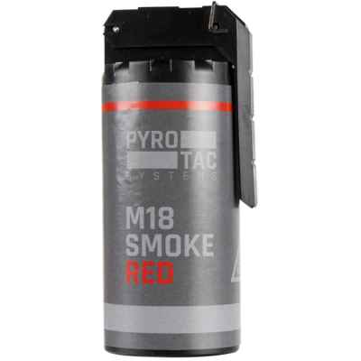 Grenade à fumée PYROTAC Paintball / Airsoft avec culbuteur (rouge) | Paintball Sports