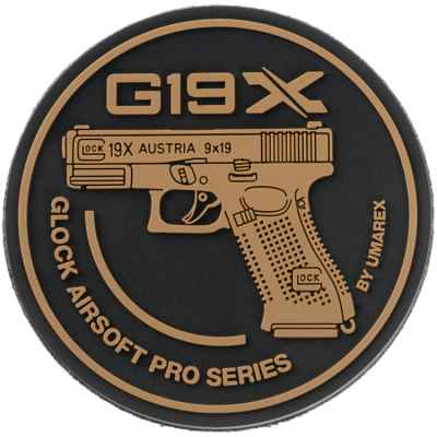 Patch Velcro Paintball / Airsoft (Glock 19X) | Paintball Sports