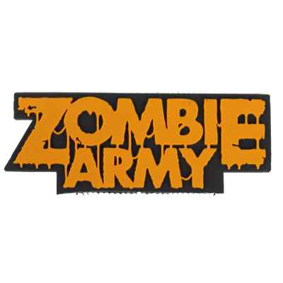 "Patch Velcro PVC Paintball / Airsoft (Armée Zombie ""orange"") 