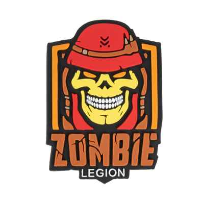 "Patch Velcro en PVC Paintball / Airsoft (Légion Zombie ""rouge"") 