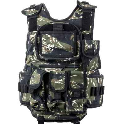 Gilet tactique de paintball 6 + 1 (camouflage rayé tigre) | Paintball Sports