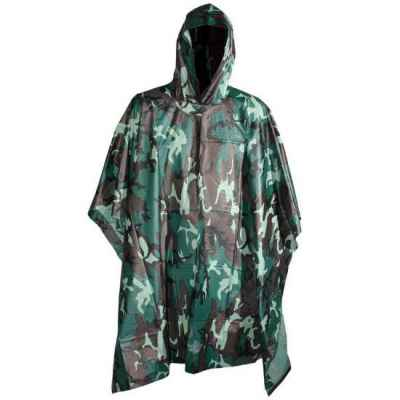 Paintball / Gotcha / Poncho de pluie Airsoft (Woodland Camo) | Paintball Sports
