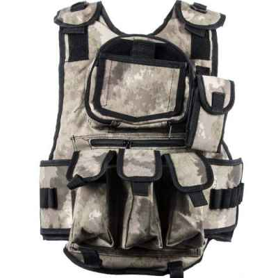 Gilet Paintball Tactical 6 + 1 (Camo urbain brun / gris) | Paintball Sports