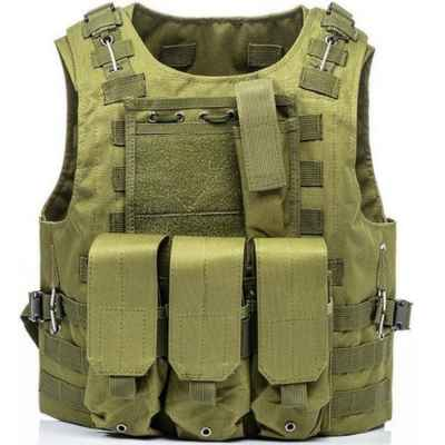 Tactical Paintball Molle Vest avec poches (olive) | Paintball Sports
