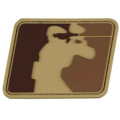 Paintball Sports Logo Patch TACTICAL PLAYER (60x50mm) - Désert / Tan | Paintball Sports