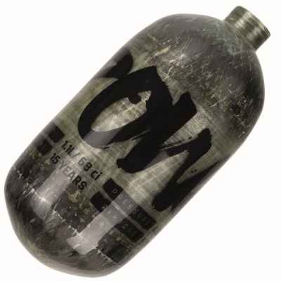 PowAir CARBON Series 1.1L / 68ci Paintball HP bouteille 300 bar (simple) | Paintball Sports