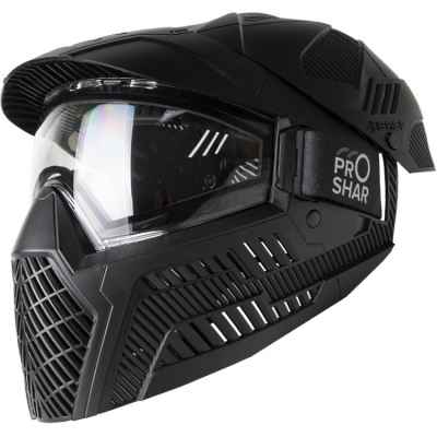 Masque de paintball ProShar BASE FULL COVER (lentille unique) - Noir | Paintball Sports