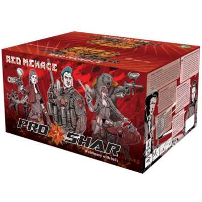 Paintballs Scénario Premium ProShar Red Menace (boîte de 2000) | Paintball Sports