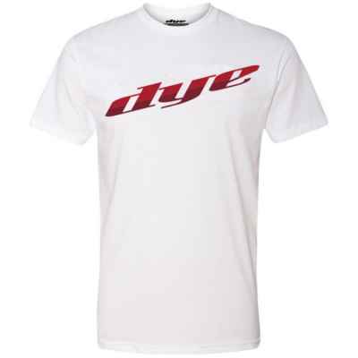 Dye T-Shirt (Dye Split) Blanc / Rouge | Paintball Sports