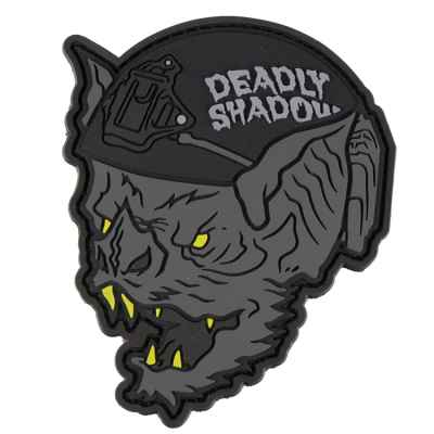Patch Velcro en PVC pour Paintball / Airsoft (The Bat - Deadly Shadow)   Paintball Sports