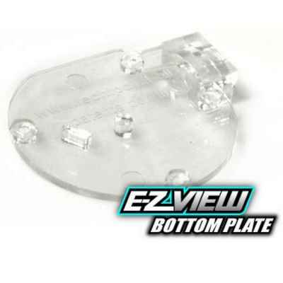 TechT EZ-View Cyclone Plaque de fond d'alimentation (clair) | Paintball Sports