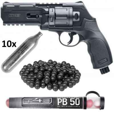 Umarex T4E HDR 50 Revolver HOME DEFENSE Kit (noir) | Paintball Sports