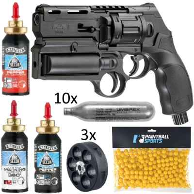 KIT AUTO-DEFENSE-KIT revolver Umarex T4E HDR 50 (19 pièces) | Paintball Sports