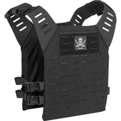 Gilet de plaque de transport Valken Alpha Plate LC / Paintball (Pirate noir) | Paintball Sports