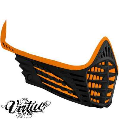 Cadre de masque de masque Virtue VIO (orange / noir) | Paintball Sports