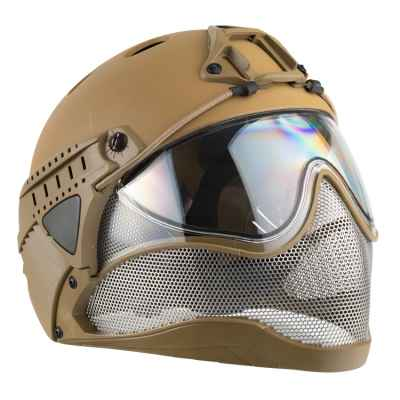 Casque intégral WarQ Airsoft / Paintball (TAN) | Paintball Sports