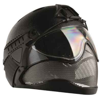 Casque intégral WarQ Airsoft (RAPTOR-Noir) | Paintball Sports