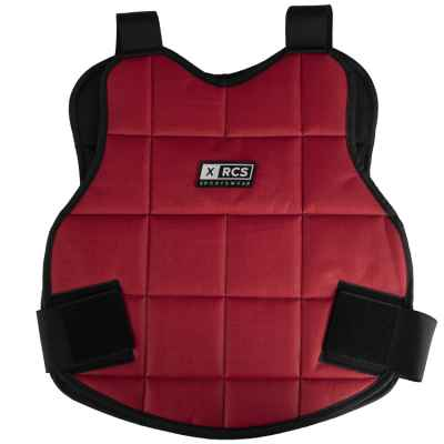 Armure de buste de paintball XRCS / protection du haut du corps (rouge) | Paintball Sports